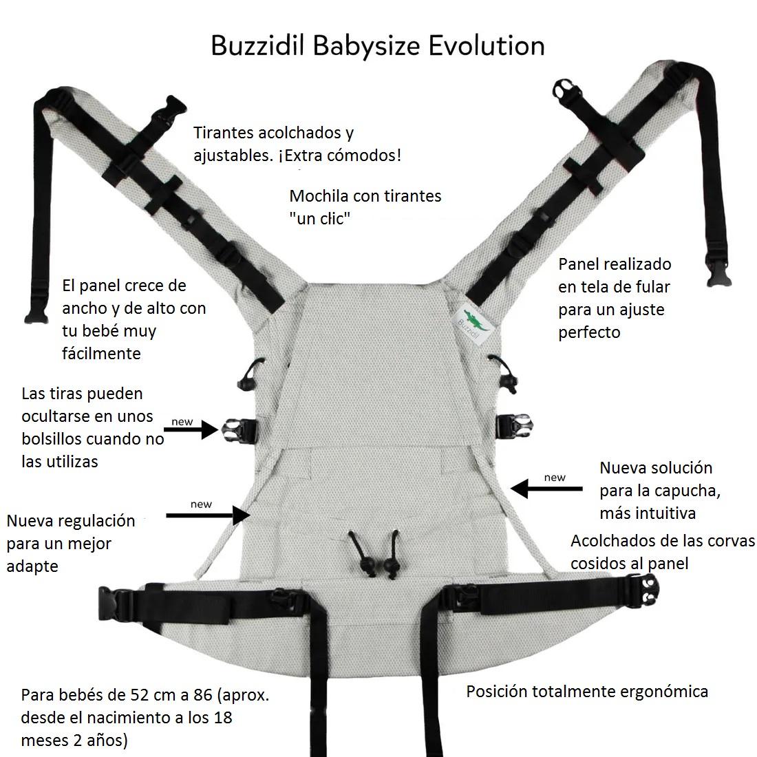 Mochila Buzzidil Evolution STANDARD FILIGREE FLUTTER